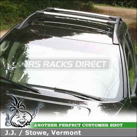 2008 Volvo XC90 Roof Rack Cross Bars for Factory Side Rails using Whispbar S53 Rail Bar Car Rack System