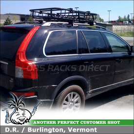 2008 Volvo XC90 Roof Rack Gear Basket using Thule 45050 Crossroad Kit, Thule 690XT MOAB Luggage Basket & 232 Step Up
