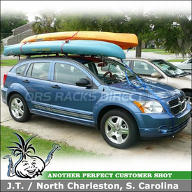 "2009 Dodge Caliber Roof Rack using 54"" Yakima Roof Tracks, Control Towers & LP1 Landing Pads"