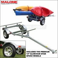2009 Malone Kayak Canoe Towing Trailer with Premium Aluminum Star Spoke Wheels - MPG460A