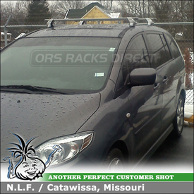 2009 Mazda 5 Roof Rack using Inno INXR Car Rack for Fixed Rack Attachment Points