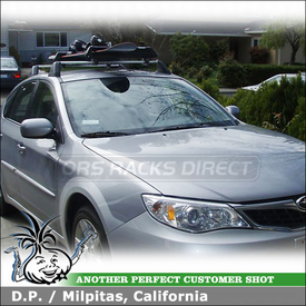 2009 Subaru Impreza Outback Sport Ski-Snowboard Rack with Yakima ButtonDown Aero