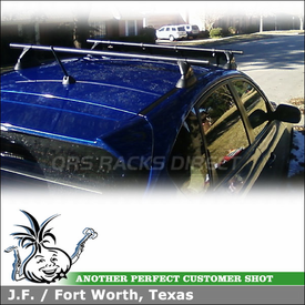 "2009 Subaru WRX Roof Rack Wind Fairing System using Yakima Control Towers, LP11 Landing Pads & 44"" Fairing"