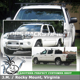 "2009 Toyota Tacoma Quad Cab Roof Rack Cross Rails using Yakima Q Towers (w/ Q127 Clips, Q128 Clips & 66"" Crossbars)"