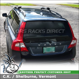 2009 Volvo XC 70 Roof Rack for Side Rails using Whispbar S17 Through Bar and K328 Fit Kit