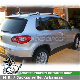 2009 VW Tiguan Roof Rack with Inno IN-SR (replaced by the Inno INFR car rack)