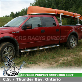 2010 Ford F-150 SuperCrew Truck Rack for Canoe using Thule 422XT Xsporter Pickup Truckbed Rack