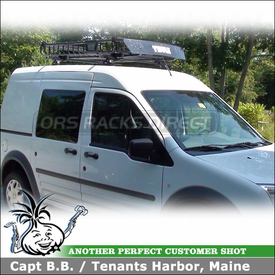 2010 Ford Transit Connect Roof Rack Basket with Thule 460 Podium System & 690XT MOAB Cargo Basket