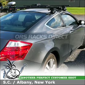 2010 Honda Accord 2DR Roof Rack Cross Bars System using Thule 480 Traverse Foot Pack, 1559 Fit Kit, LB58 Load Bars & 487 SRA Kit