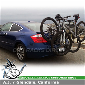 2010 Honda Accord Trunk Bike Rack using 805 Saris Bones 2 Bike Trunk Mount Bike Rack