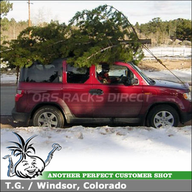 "2010 Honda Element Roof Rack using Yakima Control Towers, LP9 9 Landings Pads & 58"" Crossbars"