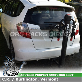 2010 Honda Fit Sport Two Bike Hitch Rack for CURT Receiver Hitch Mount