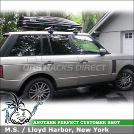 2010 Land Rover Range Rover Roof Rack Cargo Box using Thule 480R Rapid Traverse & 1274 Fit Kit and 687BXT Atlantis 1800 Roof Box