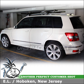 2010 Mercedes Benz GLK 350 Roof Rack Bike Racks using Thule 45050 CrossRoad Kit & Thule 516 Prologue