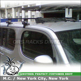2010 Nissan Cube Roof Rack Wind Fairing System using Inno IN-SU Car Rack w/ K370 Fit Hooks & Inno INA261 Roof Faring