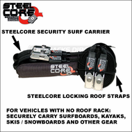 2010 SteelCore Soft Rack / Travel Rack for Vehicles With No Roof Rack - Carry Surfboards, Kayak, Skis-Snowboards etc.