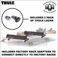 2010 Thule 91725b Universal FlatTop Ski Rack / Snowboard Rack for Factory Racks and Thule, Inno, Yakima CrossBars