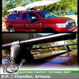 "2010 Toyota Tundra Leer Camper Shell Roof Rack & Tracks using Yakima 54"" Tracks and Control Towers (w/ Landing Pads 1 & 58"" Cross Bars)"