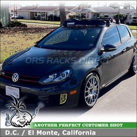 2010 VW GTI Car Rack Crossbars Wind Fairing Install