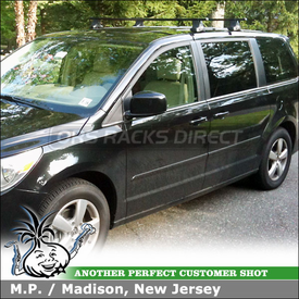 2010 VW Routan Roof Rack using Thule 480 Traverse System with 1043 Fit Kit Clips