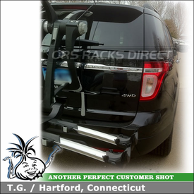 2011 Ford Explorer Bike Rack for Rear Hatch Door using Thule 9003 RaceWay Trunk Bike Rack