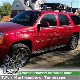 2011 GMC Yukon with Thule MOAB Open Basket for Factory Cartop Rack