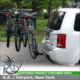 2011 Honda Pilot Hitch Bike Rack using Yakima SwingDaddy Swing-Away Bike Hitch Rack