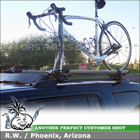 2011 Honda Pilot Roof Rack Bikes System using Thule 45058 Crossroad, 518 Echelon & 872XT Fairing