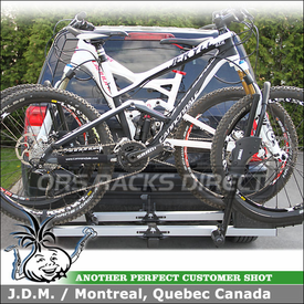 2011 Jeep Patriot with Thule 917XR T2 Bike Trays Rack for 1.25 Inch Hitch Receiver