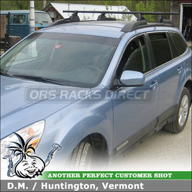 2011 Subaru Outback Factory Roof Rack Conversion using Yakima Landing Pad 12 & Yakima Control Towers