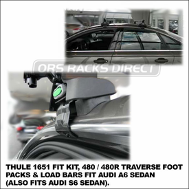 2012 Audi A6 Roof Rack using Thule 480 Traverse (includes Foot Pack, 1651 Fit Kit & LB50 Bars) - also fits Audi S6