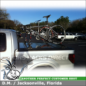 2012 Ford F-150 with Yakima Permanent Tracks and Boa Bike Racks Over Top of ReTrax Tonneau Cover