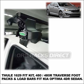 2012 Kia Optima Roof Rack using Thule 480 Traverse (includes Foot Pack, 1629 Fit Kit & LB58 Bars)