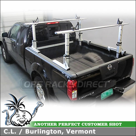 2012 Nissan Frontier Truck Rack Cross Bars In Pickup Truckbed With UtiliTrac Removed