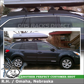 2012 Subaru Outback 5-Door with Luggage Box Car Rack for Factory Side Rails