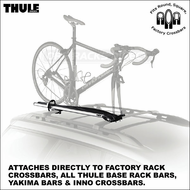 2012 Thule 513 Domestique Bike Rack - Fits Any Car Rack Bars Including Factory Racks