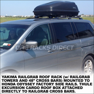 2012 Thule 667ES Excursion Cargo Box - Classic Inexpensive Luggage Roof Box fits Factory Racks