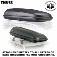 2012 Thule 668ES Frontier Car Roof Box - Classic Inexpensive Narrow Cargo Box fits Factory Racks