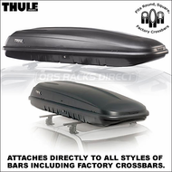 2012 Thule 669ES Mountaineer Roof Box - Classic Inexpensive Cargo Box fits Factory Racks