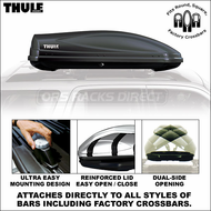 2012 Thule 686BXT Atlantis 1600 Car Roof Box (Black) - Premium Cargo Luggage Carrier Box