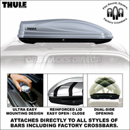 2012 Thule 686XT Atlantis 1600 Luggage Roof Box (Silver) - Premium Car Roof Mount Cargo Box