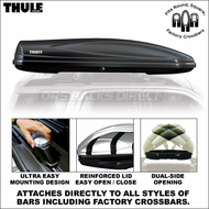 2012 Thule 687BXT Atlantis 1800 Cargo Box (Black) - Premium Car Roof Rack Luggage Gear Box