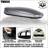 2012 Thule 687XT Atlantis 1800 Car Roof Box (Silver) - Premium Car Rooftop Cargo Luggage Box