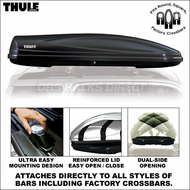 2012 Thule 688BXT Atlantis 2100 Cargo Box (Black) - Premium Cargo Luggage Car Roof Box