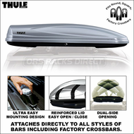 2012 Thule 688XT Atlantis 2100 Roof Box (Silver) - Premium Car Roof Mount Luggage Cargo Carrier