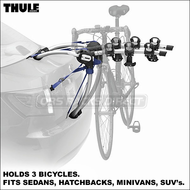 2012 Thule 9007 GateWay 3 Bike Trunk Rack for Sedan, Coupe, Hatchback, Minivan, SUV etc.