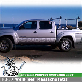 2012 Toyota Tacoma Quad Cab Short Bed Pickup Truck Rack with Thule 422XT Xsporter and XK1 Adapter Kit