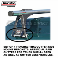 2012 TracRac TracGutter Side Mount (29900) - Set of 4 Artificial Raingutter Brackets