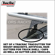 2012 TracRac TracGutter Top Mount (29901) - Set of 4 Artificial Rain Gutter Brackets