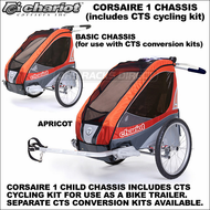 2013 Chariot Corsaire 1 Child Bike Trailer (Corsaire1 CTS Chassis w/ CTS Cycling Kit Included) - Touring Chariot Carriers Baby Jogging Strollers, Trailers & Ski Pulks